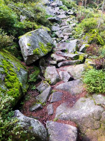 Rocky pathway in the Alps of Fieberbrunn 版權商用圖片