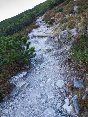 rocky pathway upon the Henne mountain 版權商用圖片