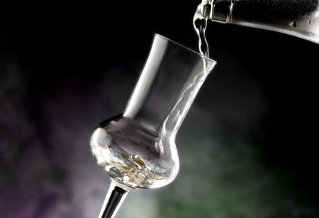 Glass of grappa Standard-Bild