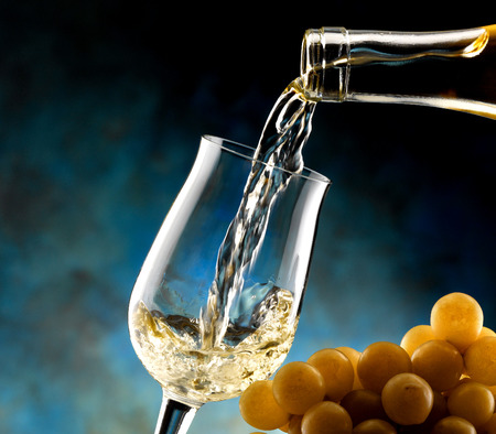 tastevin: a glass of wine Stock Photo