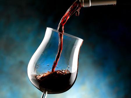 sommeliers: a glass of wine Stock Photo