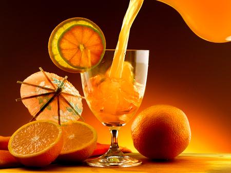 Oranges and orange juice photo