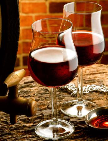 tastevin: Glasses of red wine