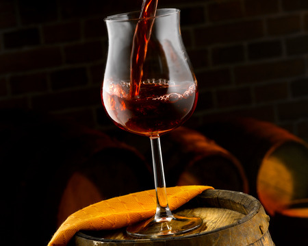 sommeliers: Glasses of red wine