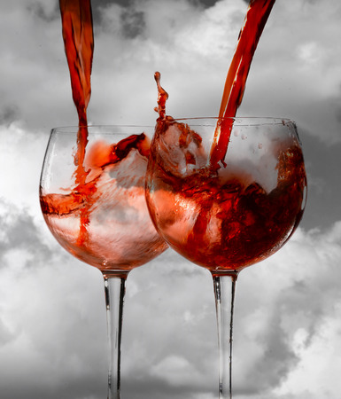 sommeliers: Wine glass Stock Photo