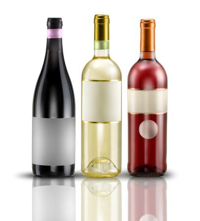 tastevin: wine bottles of various kinds