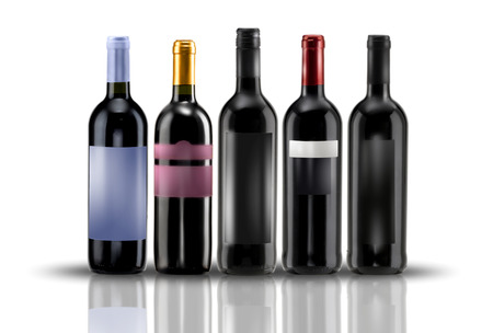 sommeliers: wine bottles of various kinds