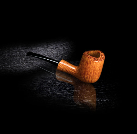 briar: in beautiful briar pipe