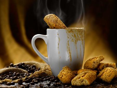 Milch und Kaffee Standard-Bild - 34682768