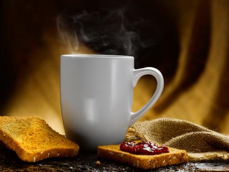 Milch und Kaffee Standard-Bild - 34683623