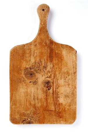 cutting board: Old kitchen board Stock Photo