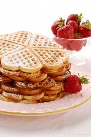 golden brown waffles