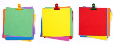colorful sticky notes isolated on white