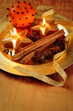 Candle plate - Christmas decoration