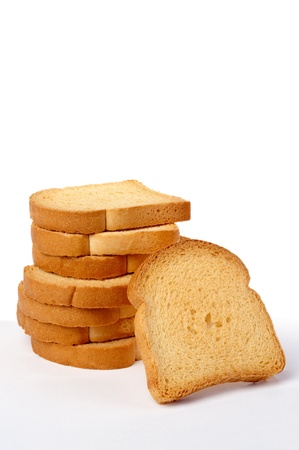 rusk isolated on white Stock Photo