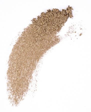 golden eyeshadow isolated on white Stock Photo
