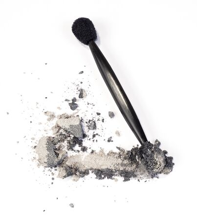 grey eyeshadow isolated over white photo