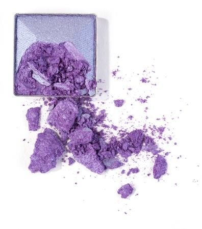purple eyeshadow isolated on white Stock Photo