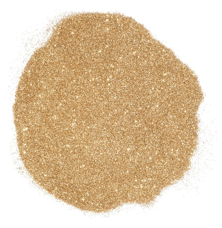 dispersed: golden glitter