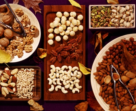 unsaturated: Assortment of tasty nuts