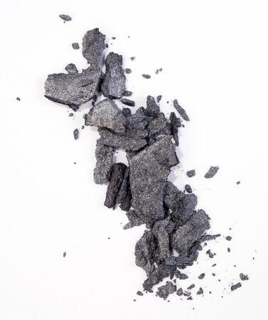 grey eyeshadow isolated on white background Stock Photo