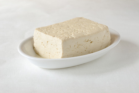 soft white tofu block photo