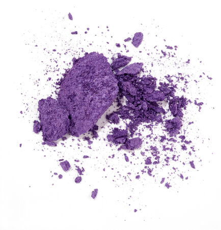 violet eyeshadow isolated on white background Banco de Imagens