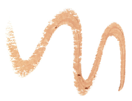 smudge: Concealer trace isolated over white background Stock Photo