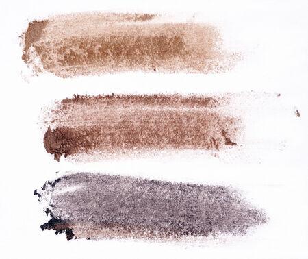 soft coloured eyeshadow isolated on white background