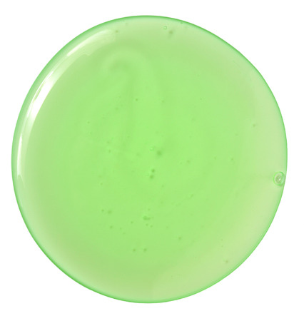 transparent green gel isolated on white