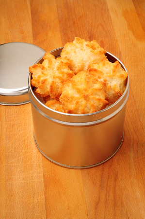 close p: Traditional delicious coconut macaroons Stock Photo