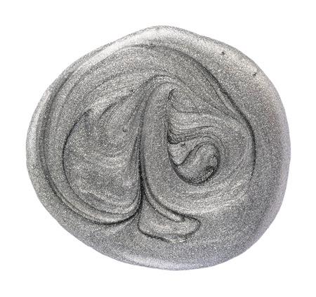 silver gray nail polish isolated on white background Stock Photo