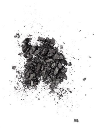 dark grey eyeshadow isolated on white background