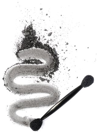 applicator: dark grey eyeshadow isolated on white background