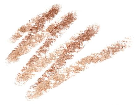 gamme de produit: eye-liner trace isolé sur fond blanc