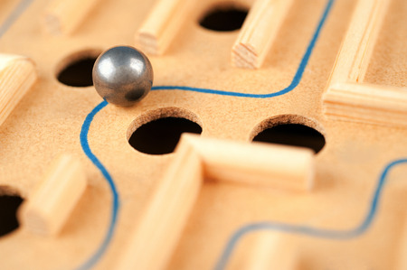 way through the maze, game of skill Stock Photo