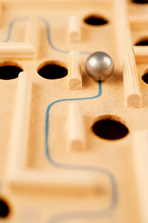 finesse: way through the maze, game of skill Stock Photo