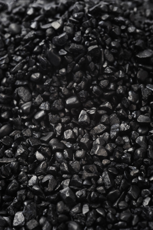 granular: granular texture of black granulat for abstract background Stock Photo