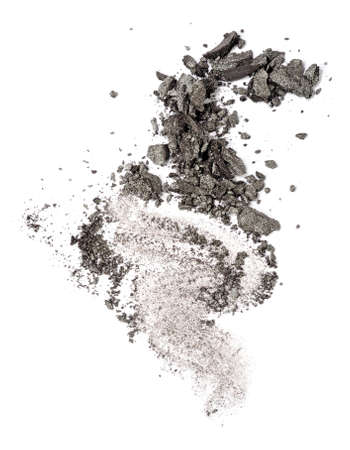 gray eyeshadow swatch isolated over white background