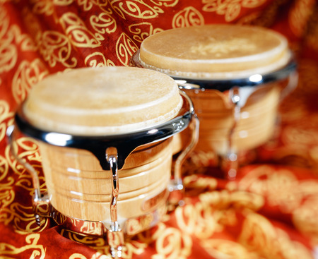 bongos: bongo drum or bongos,  selective focus Stock Photo