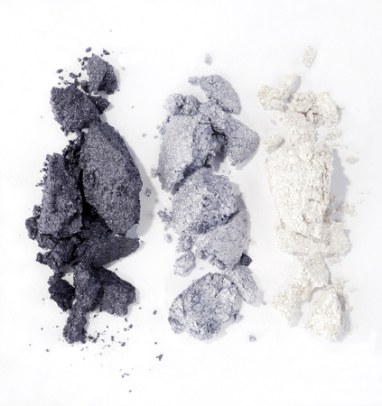 grey eyeshadow isolated on white background Imagens