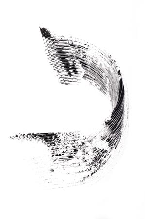 trace of mascara isolated on white background