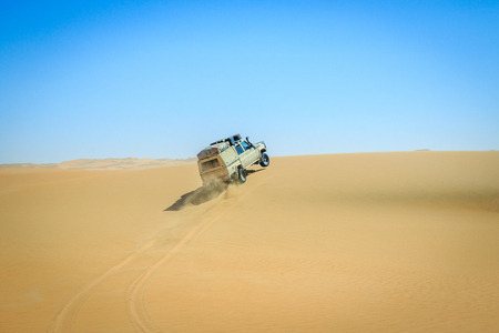 eco tourism: 4x4 driving in the Nambian Desert, Namibia. Editorial