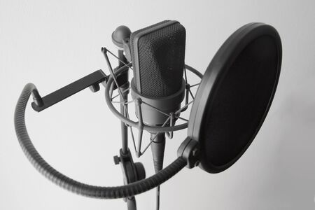 designates: Microphone Audio Pro Audio Gear Recording Studio Stock Photo