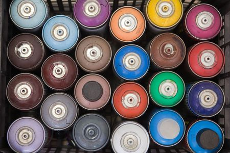 cans box full of many colors Stock Photo - 8073703