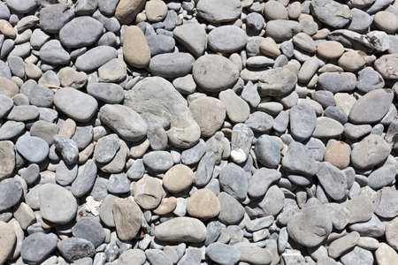 background of rond rocks on the beach photo