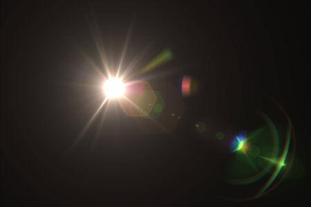 digital lens flare in black bacground horizontal frame photo