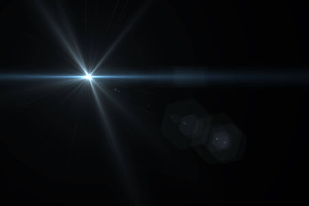lens flare: digital lens flare in black background horizontal frame