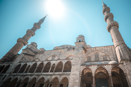 blue mosque: View of the majestic Blue Mosque in Istanbul, Turkey.