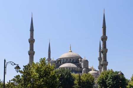 camii: Skyline the Blue Mosque, Sultanahmet Camii in Istanbul, Turkey